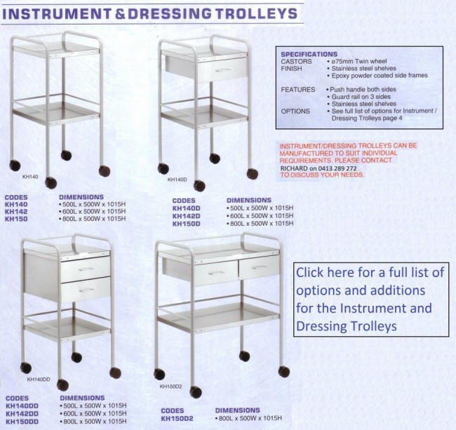 Instrument and Dressing Trolley