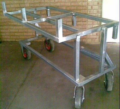 Stone Trolley with Swivel Top