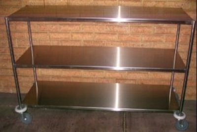Mobile Bench Stainless Steel