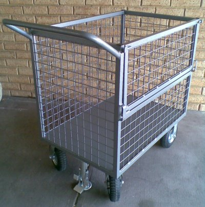 Trolley With Floor Locks Attached