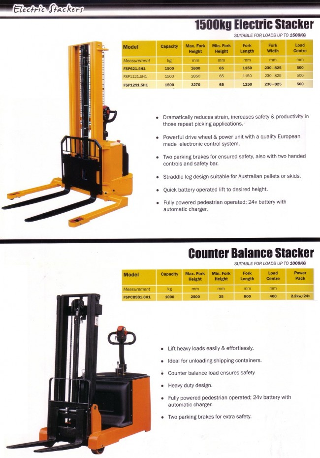 Electric Stackers